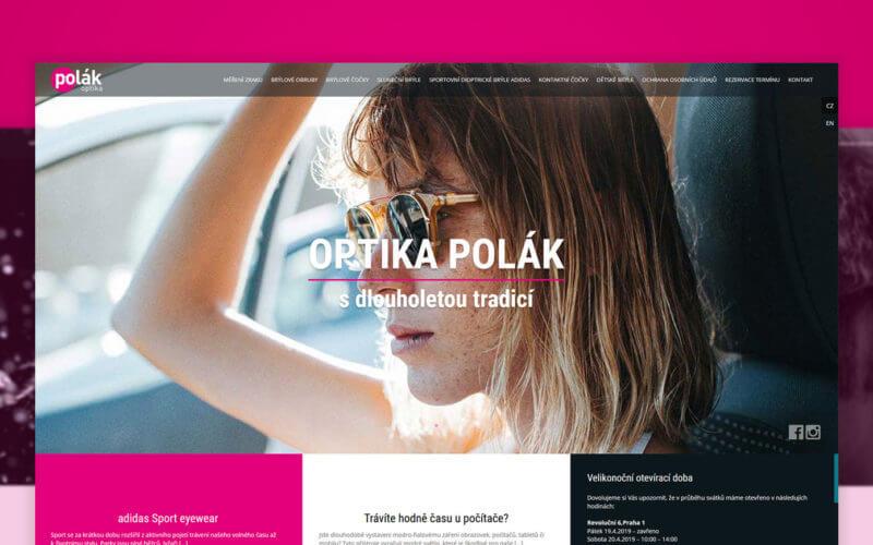 Tvorba stránek Optika Polák