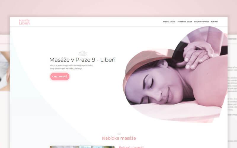 Tvorba webové stránky Masáže Libeň