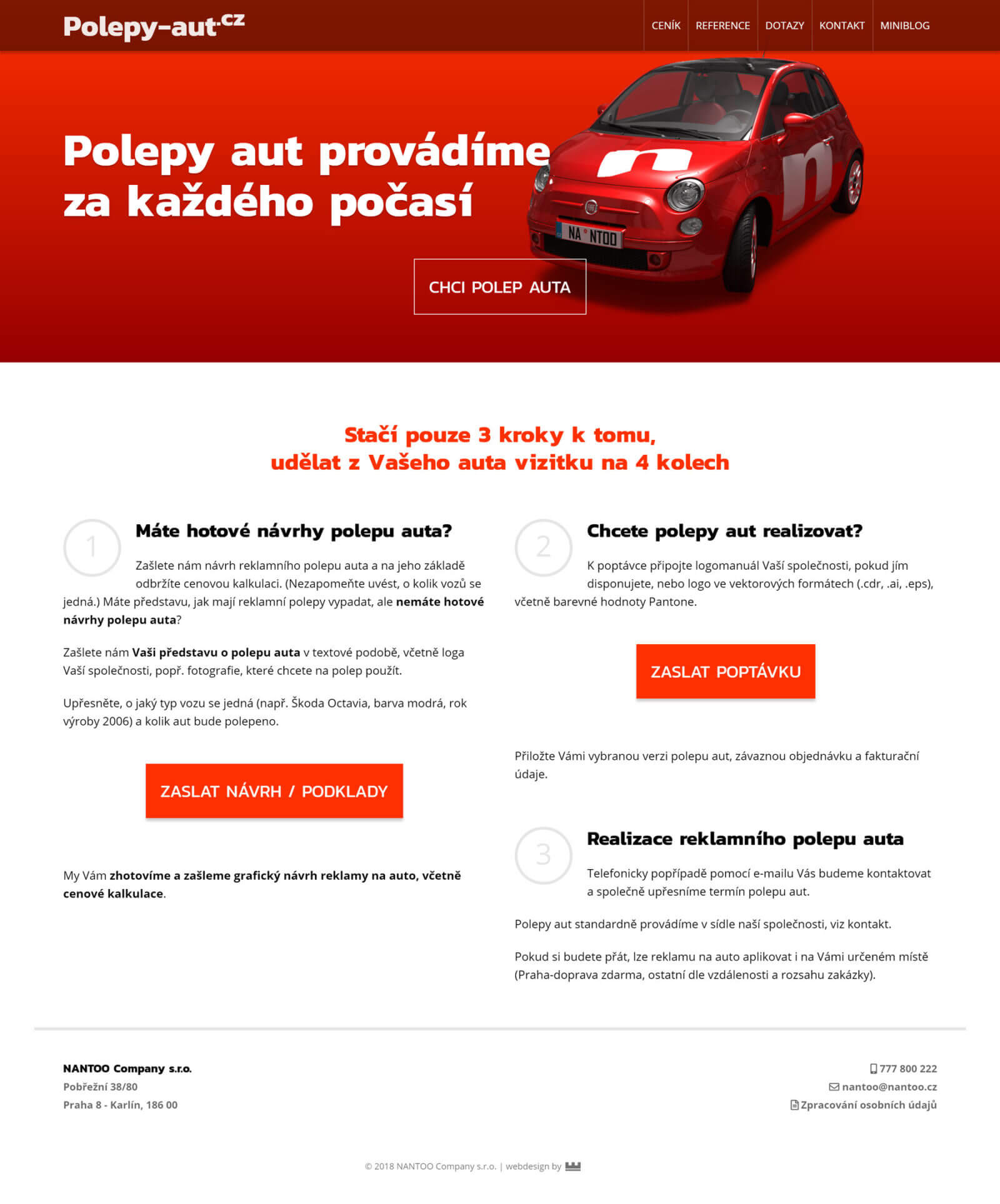 Tvorba webových stránek