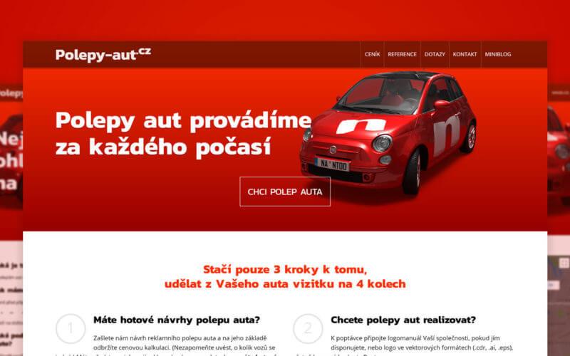 Tvorba webových stránek Polepy aut