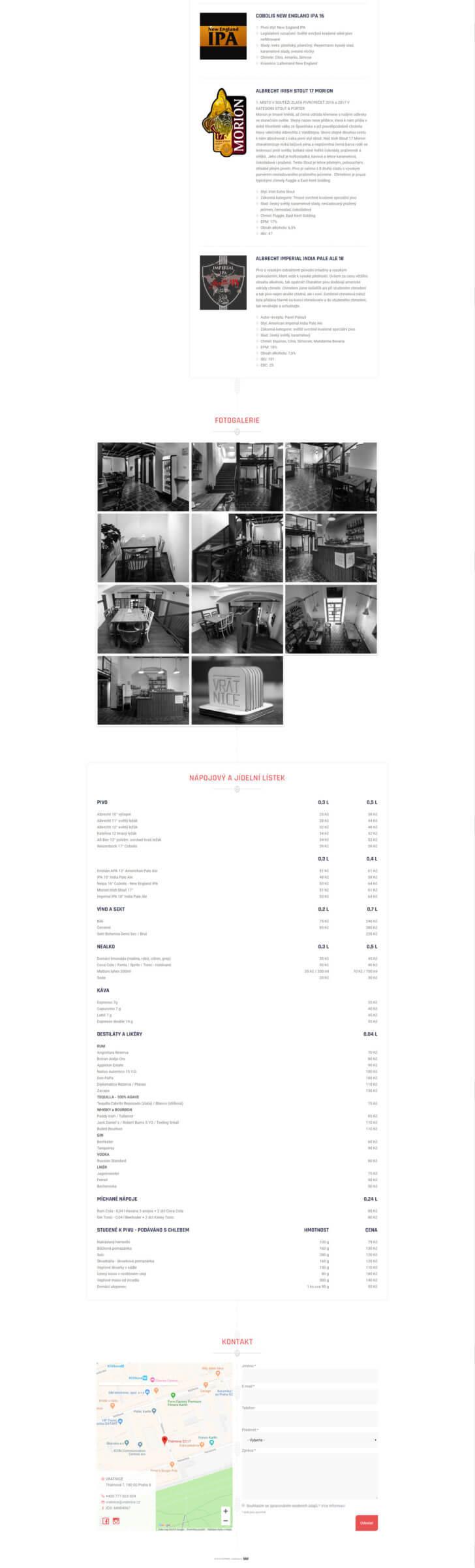 Tvorba webových stránek - onepage