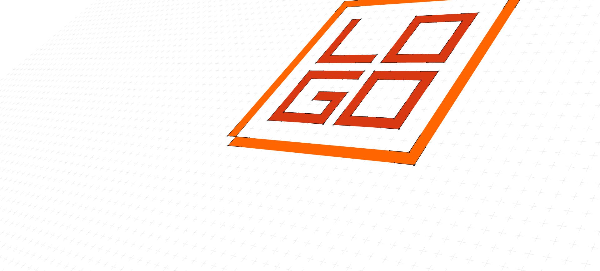logo v křivkách