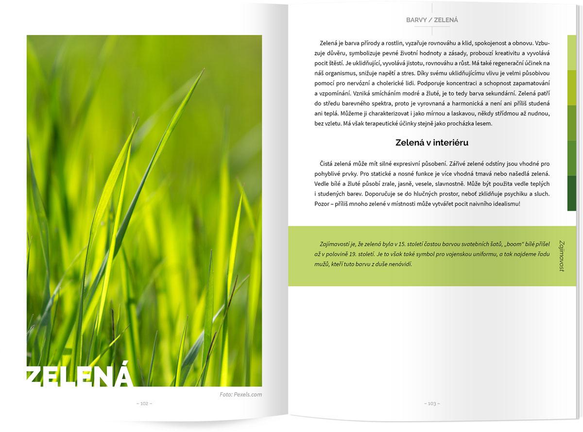 design a sazba knihy, náhled stránek