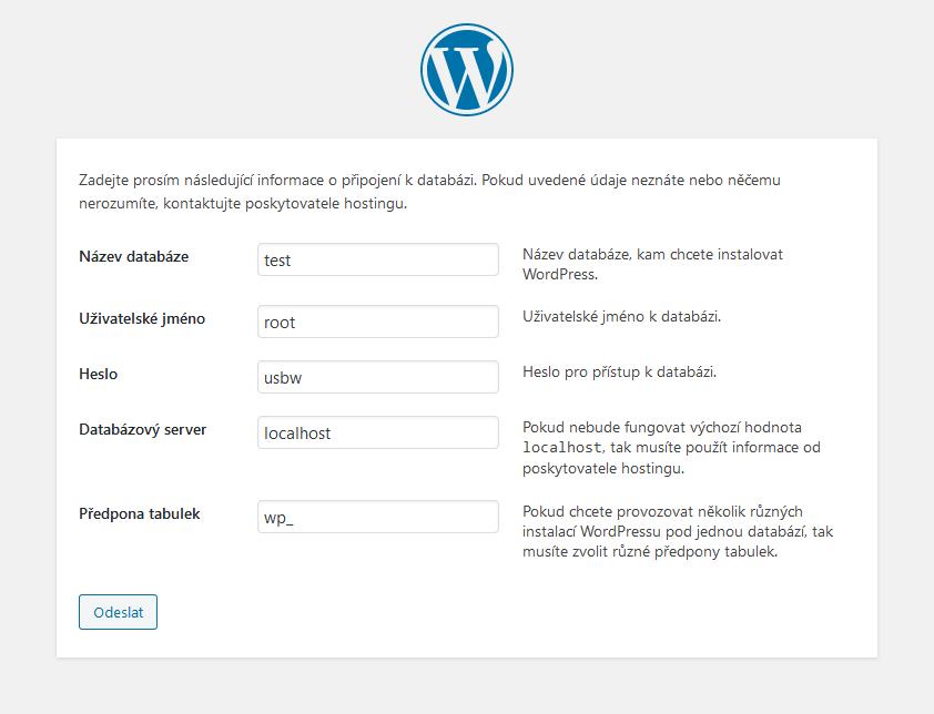 Instalace WordPress na localhost